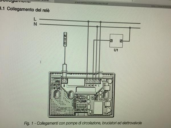 Come posso collegare nuovo termostato a valvola di zona for Termostato touchscreen gsm vimar 02906
