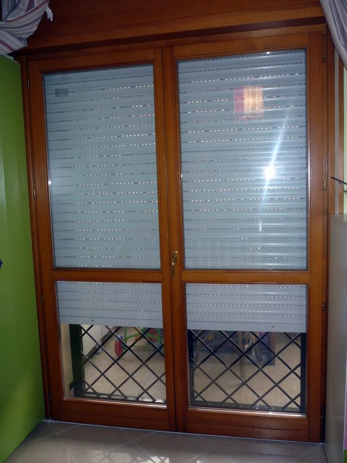 Porta finestra in legno 2 ante h 220 fascia fissa h100 - Finestra a 2 ante ...