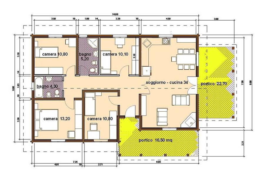Progetto e costruzione casa pizzo vibo valentia - Progetto casa 100 mq ...