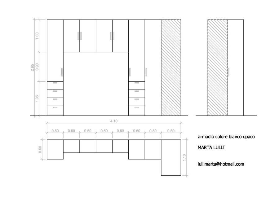 Armadio A Ponte Misure ~ home design, ispirazione interni e mobili