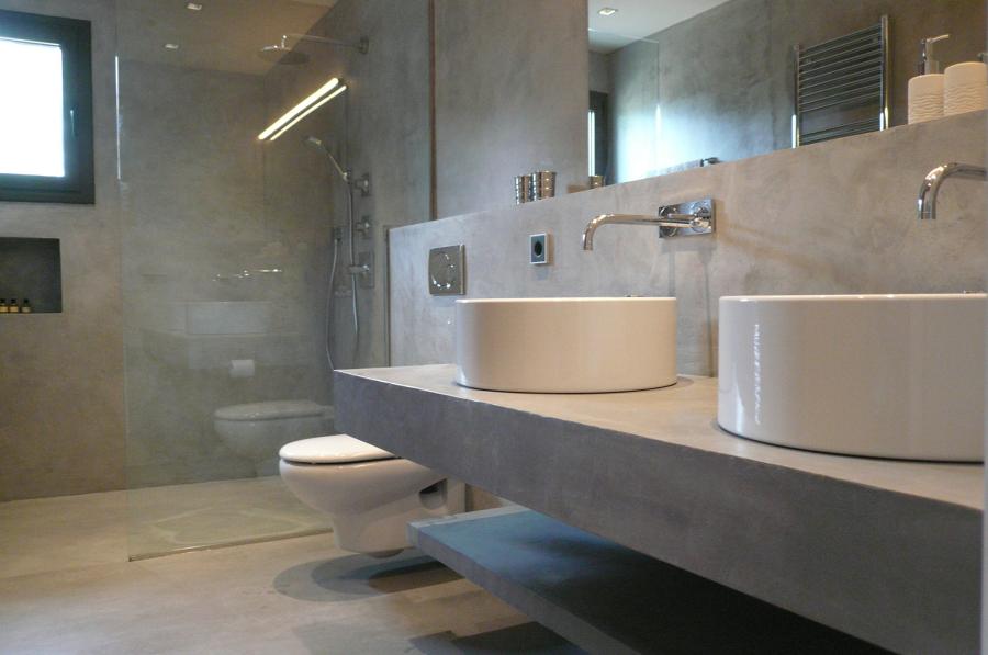 Bagno+doccia in beton cire (cemento cerato) o in tadelakt ...