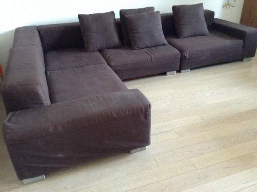 Nuova fodera per divano angolare milano milano - Tappezzare divano ...