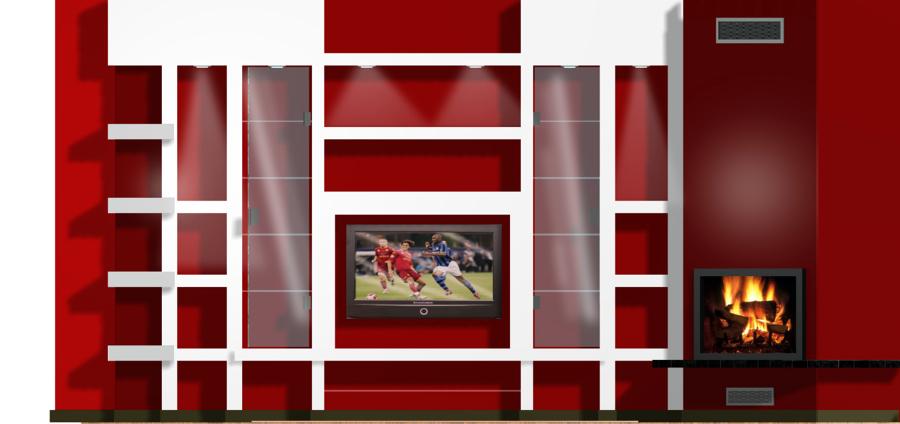 Creare parete e angolo camino in cartongesso ala di - Prezzo parete in cartongesso ...