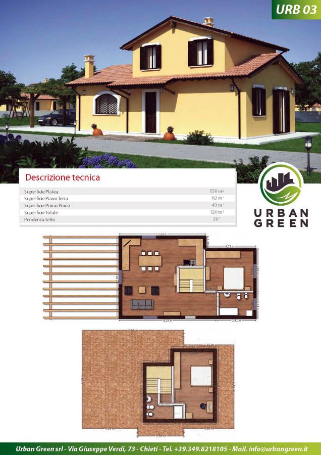 Costruzione casa al rustico di 120 mq 2 piani poggio for Piani di casa bungalow 2 piani