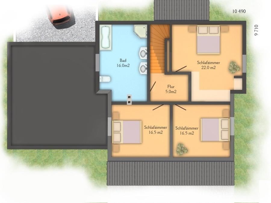 Costruire una casa bifamiliare di circa 140 mq pincara for Costo per costruire garage per 2 auto in allegato