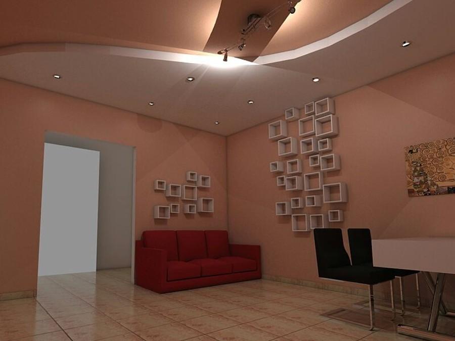 Casa moderna roma italy faretti led controsoffitto for Controsoffitto soggiorno