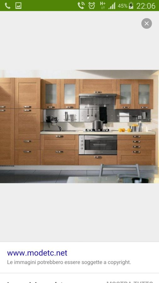 Cucina Moderna Lineare Con Colonna Forno Metri 3 30 Completa Di