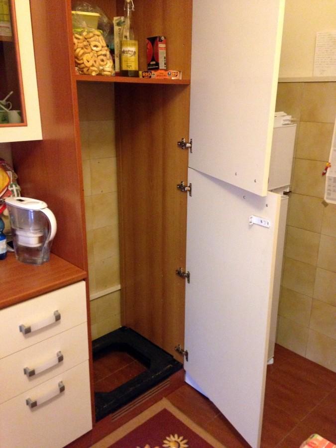 Spostamento pannello mobile incasso frigo cucina - Mobile frigo incasso ...