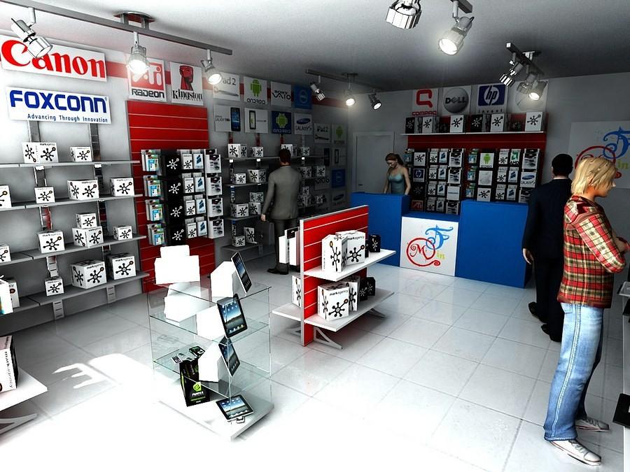 Arredamento completo per un negozio di telefonia e for Arredamento completo napoli