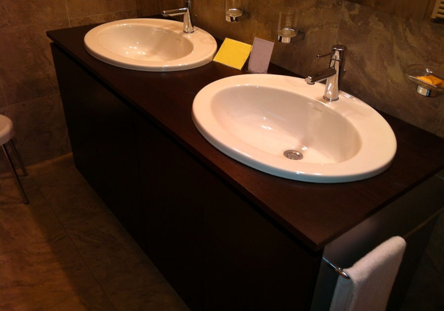 Mobile bagno per due lavandini da incasso cagliari - Lavandino da incasso bagno ...