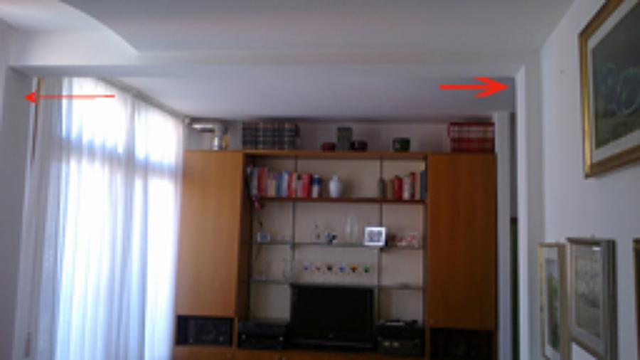 Creare una parete divisoria in cartongesso 3 20 m per 2 80 - Prezzo parete in cartongesso ...