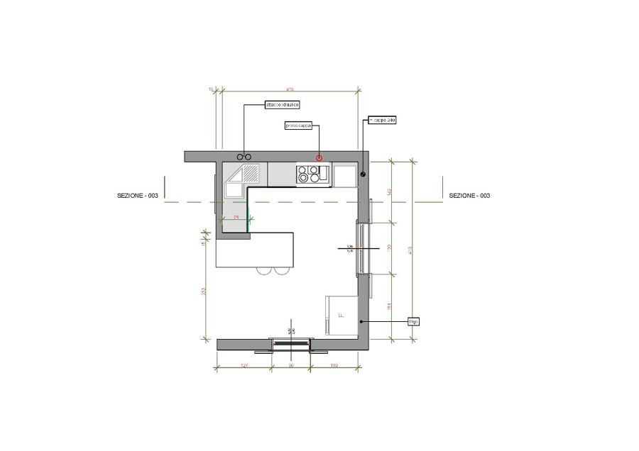 Souvent Beautiful Isola Cucina Dimensioni Ideas - Home Interior Ideas  KH14