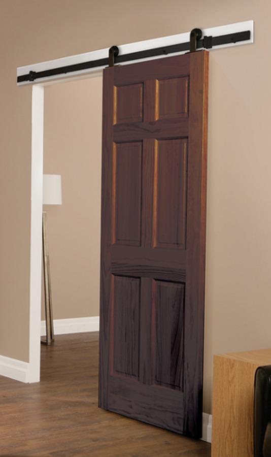 Porta scorrevole esterna stile granaio marconi roma - Misure porta scorrevole ...