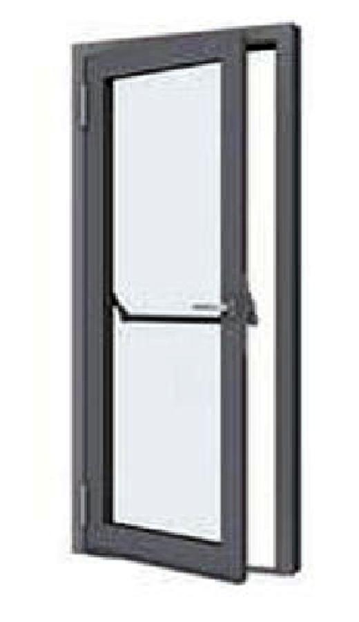 Portoncino antipanico alluminio e vetro per edifici terziari chiaravalle ancona habitissimo - Vetro per porta prezzo ...