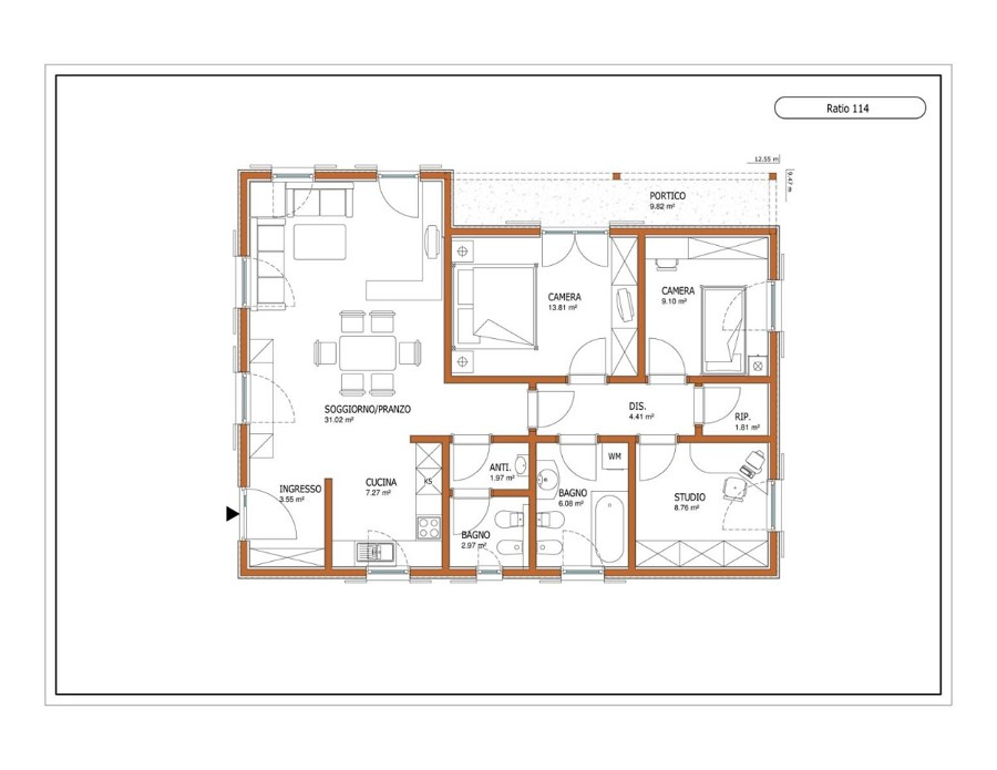 Casa prefabbricata legno 100mq giussano monza e della - Progetto casa 100 mq ...