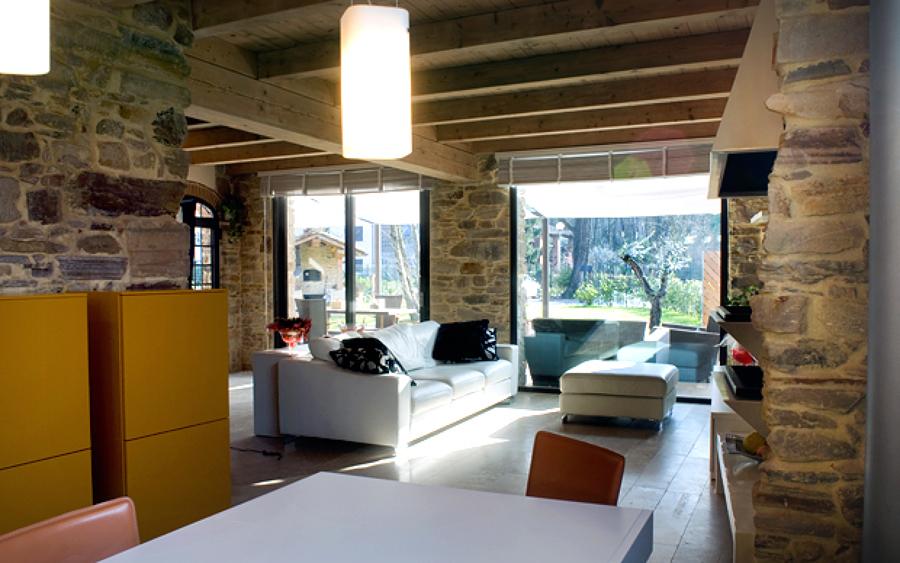 Disegnare loft di campagna moderno formia latina - Ristrutturare casale in pietra ...
