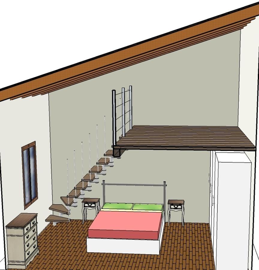 Soppalco in legno per camera da letto design casa - Soppalco camera da letto ...