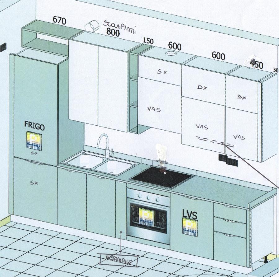 Collegamenti lavello lavastoviglie per nuova cucina lambrate milano milano habitissimo - Mobile per lavastoviglie ...
