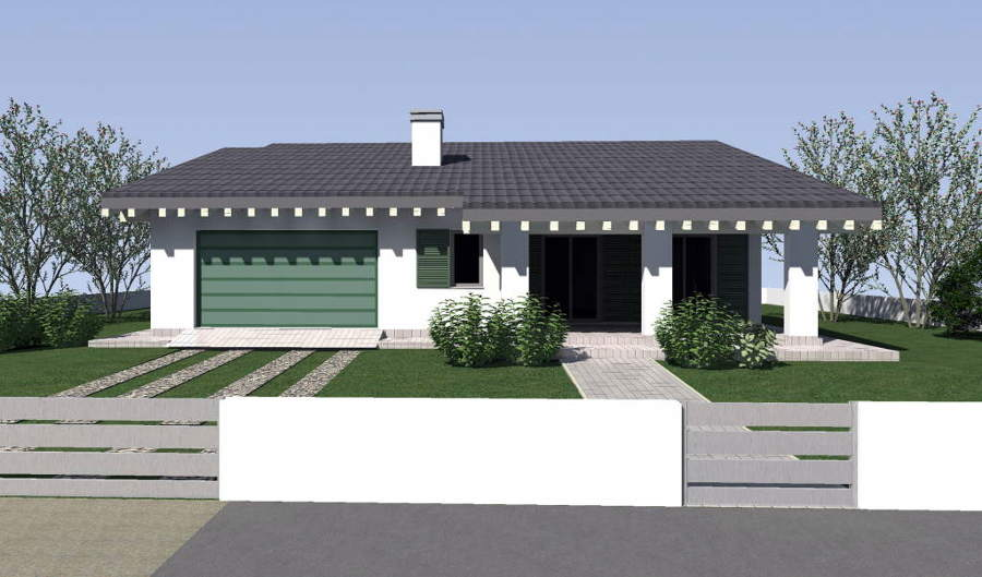Costruire villetta singola piano terra bastardo perugia for 1 piano garage con abitazione