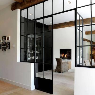 Realizzazione struttura ferro vetro separare cucina e salone ...