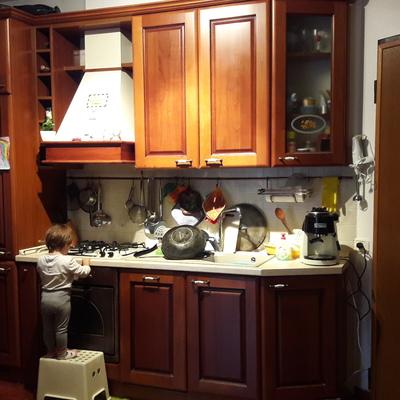 Trasformare cucina da color ciliegio a bianco - Albano Laziale (Roma ...