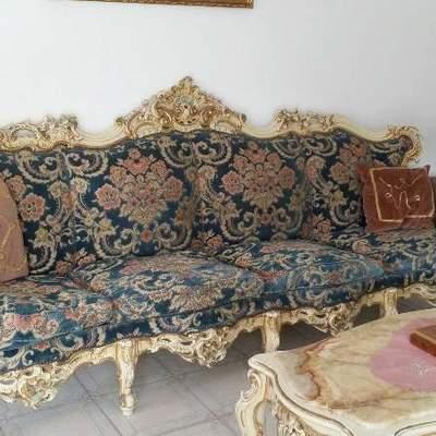 Tappezzare 2 divani da 4 posti in stile barocco e 3 - Tappezzare divano ...