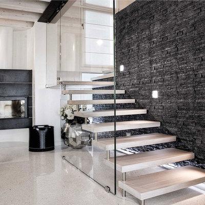 Chiudere scale con parete di vetro aspra palermo - Scale a parete ...
