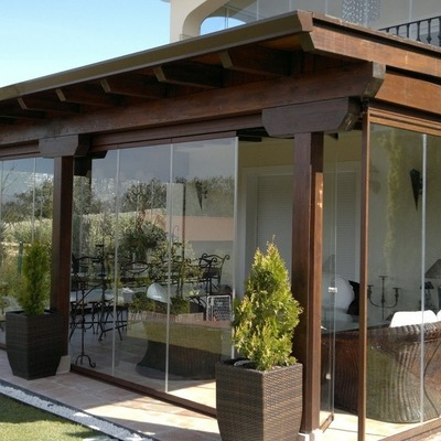 Copertura terrazzo con veranda in alluminio-vetro - Gaeta (Latina ...