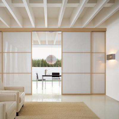 Costruzione parete divisoria composta da pannelli semitrasparenti scorrevoli in stile giapponese - Altezza porte finestre ...