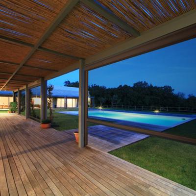 Chiusura terrazza con tettoia in legno - Pentone (Catanzaro ...