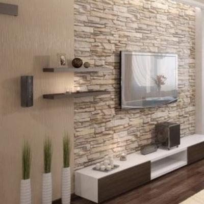 Rivestimento parete con finta pietra roma roma - Parete a mattoncini ...