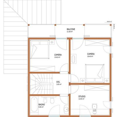 costruzione casa prefabbricata a due piani di circa 90 mq