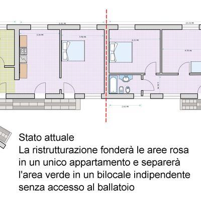 ristrutturazione e fusione di due appartamenti contigui