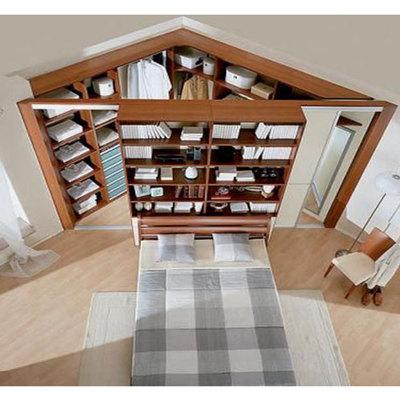 Libreria con cabina armadio dispensa casale reggio - Cabina armadio dietro al letto ...