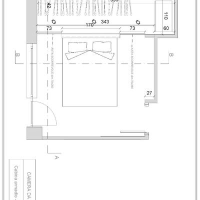 Chiusura cabina armadio con sistema ante scorrevoli roma - Cabine armadio in muratura ...