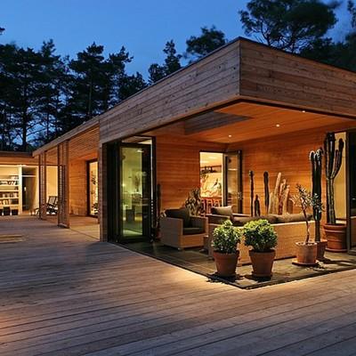 Prefabbricato in legno di 25 mq muro leccese lecce - Prefabbricato casa ...