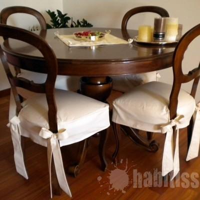 Tessuti Per Sedie Antiche.Realizzare 4 Coprisedie Per Sedie Antiche E Copritavolo Ovale Dello