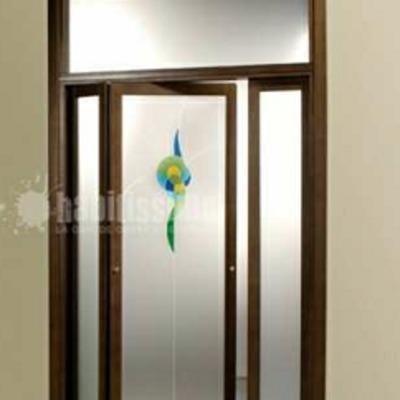 Installare porta a soffietto in legno di pino e vetro - Casalecchio ...