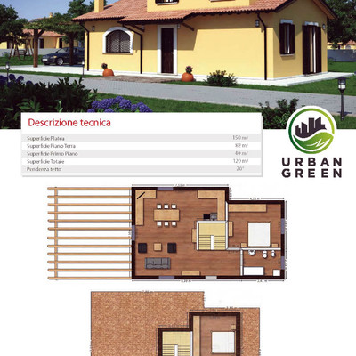 costruzione casa al rustico di 120 mq 2 piani poggio