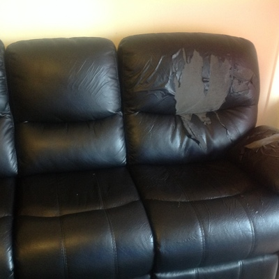 divano in pelle rovinato casamia idea di immagine
