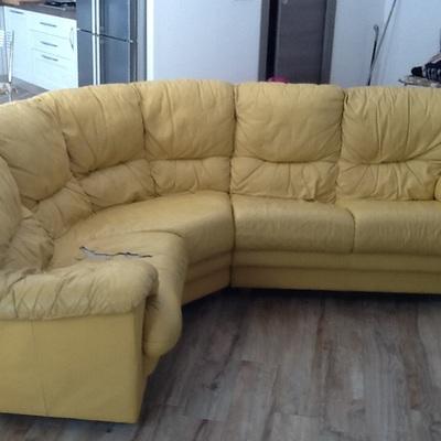 Copridivano in tessuto per divano angolare non sfoderabile - Copridivano angolare per divano in pelle ...