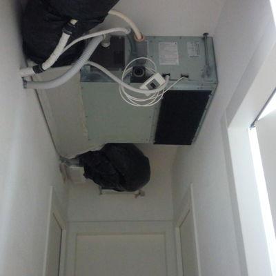 Cartongesso corridoio copertura climatizzatore canalizzato ...