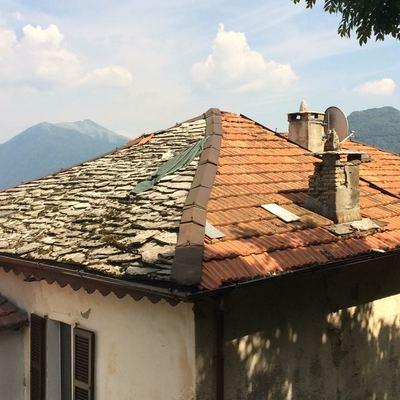 Ristrutturazione tetto con piode casasco d 39 intelvi como - Alzare tetto casa ...