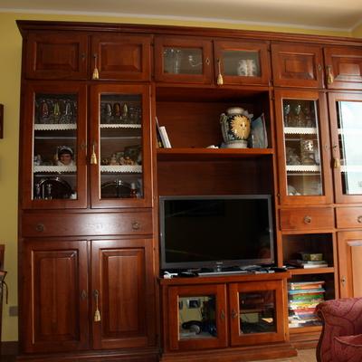 Modifica parete attrezzata legno massello - Peschiera ...