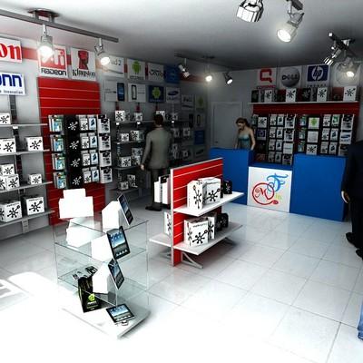 Arredamento completo per un negozio di telefonia e for Arredamento negozi informatica