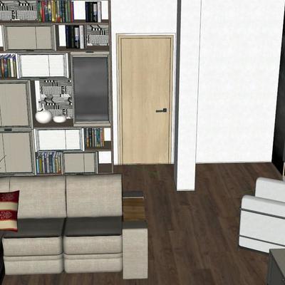 Mobili su misura soggiorno (ingresso, parete attrezzata - Seriate ...