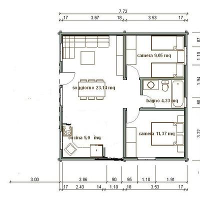 Costruire casa di 60 mq capaccio scalo salerno for Progetto casa 75 mq