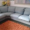 Rifasciatura completa di un divano in stoffa