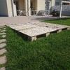 Piattaforma 3.5x3.5mt in giardino per posa piscina esterna