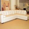 Rivestimento divano angolare con sedute e schienali fissi